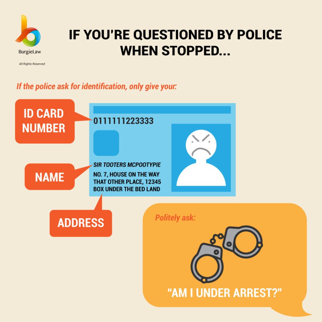 If you're questioned by police when stopped... | Know Your Rights: Police