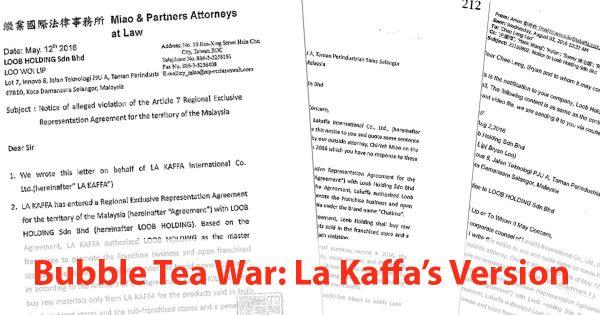 Bubble Tea War (CHATIME v TEALIVE): La Kaffa's version