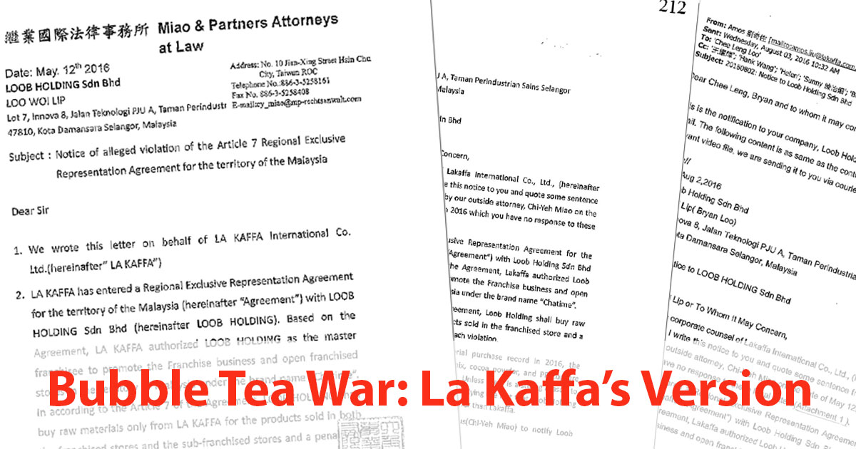 Bubble Tea War (CHATIME v TEALIVE): La Kaffa's version