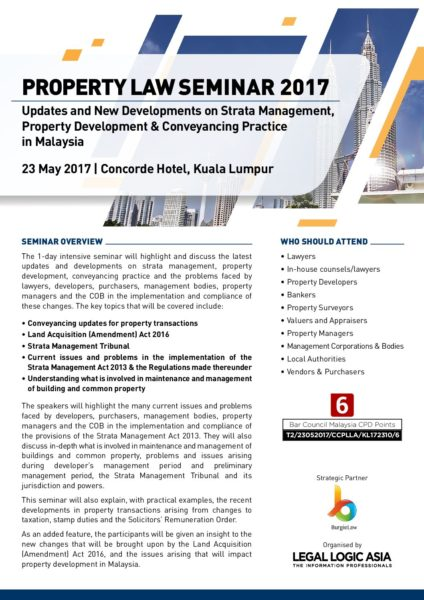 Property Law Seminar 2017 Registration Form