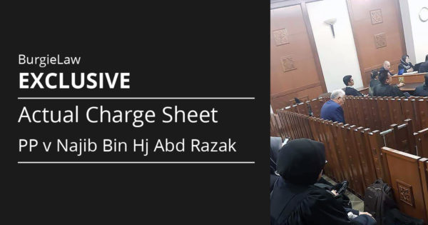 [Exclusive] Actual Charge Sheet of PP v Najib Bin Hj Abd Razak