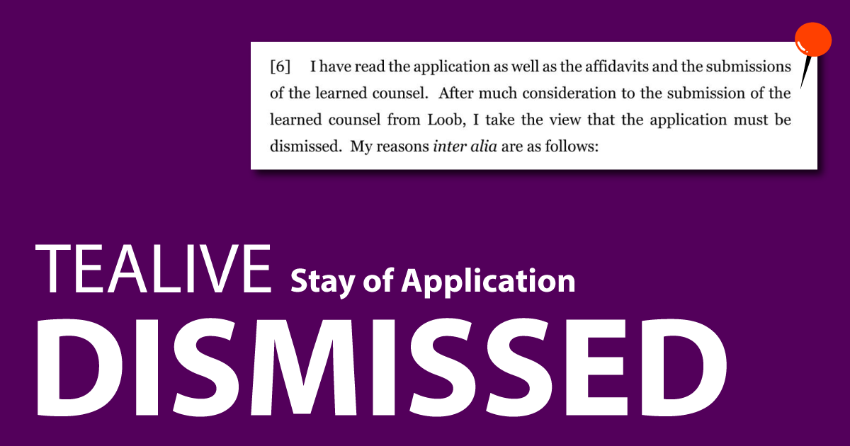 [Exclusive] Loob (Tealive)'s stay application dismissed 15 mins ago. Must it NOW close its outlets?