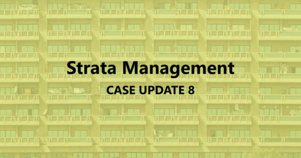 Strata Management Case Updates 8 – Can a JMB sue after the MC is established