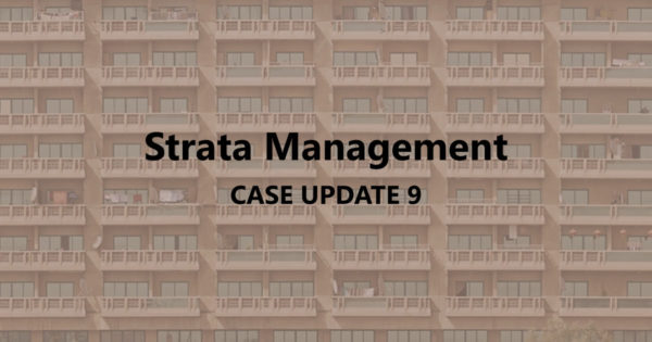 Strata Management Case Updates 9 – How to deal with AirBnb parcels?
