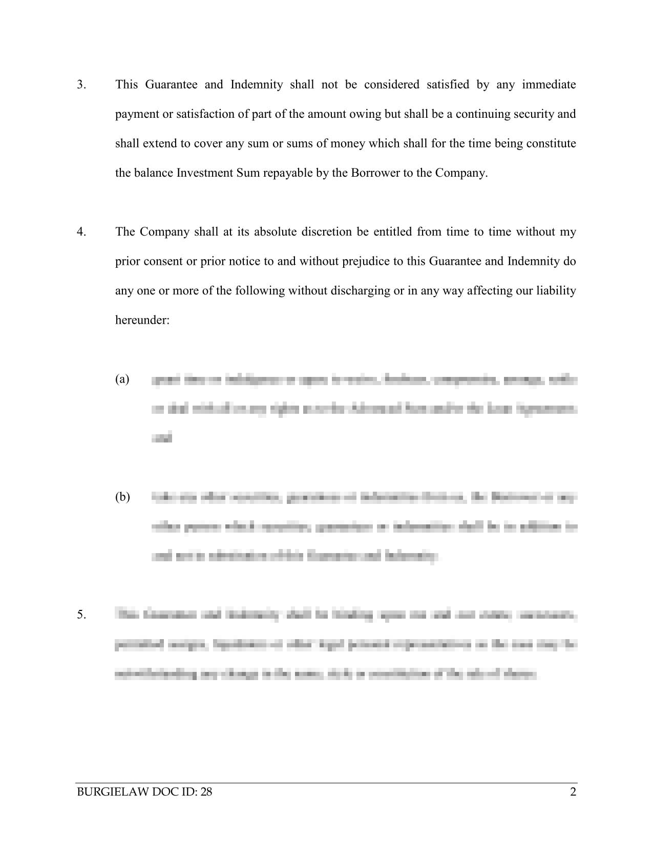 Letter Of Indemnity Template from www.burgielaw.com