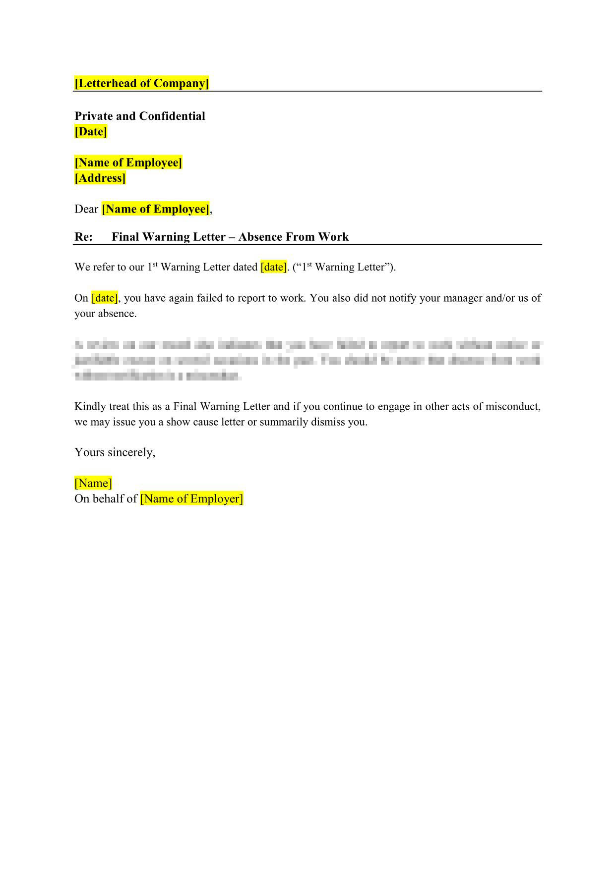 Final Warning Letter To Employee from www.burgielaw.com