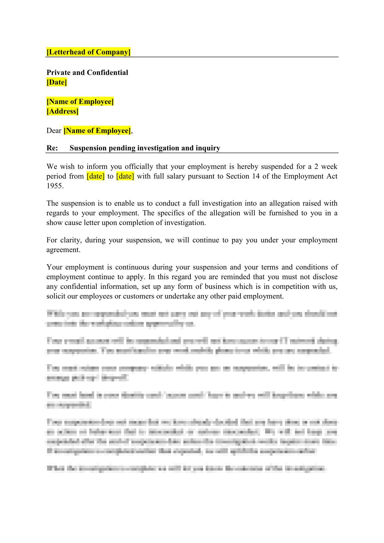 16-in-1  employment letter templates