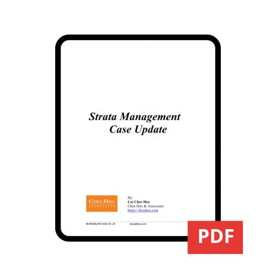 Strata Management Case Update PDF