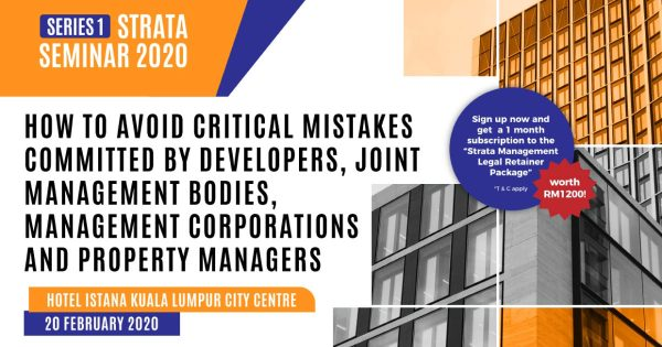 Strata Management Seminar 2020 – Series 1
