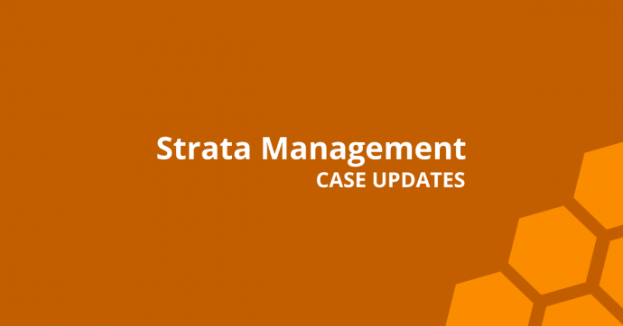 Strata Management Case Updates