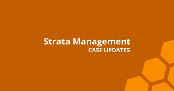 Strata Management Case Updates