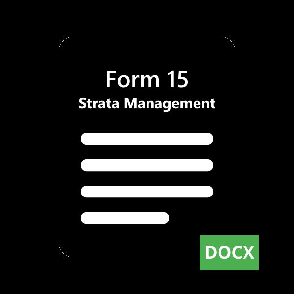 SMR Form 15
