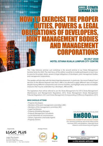 Strata Management Seminar 2020 Series 2 Brochure