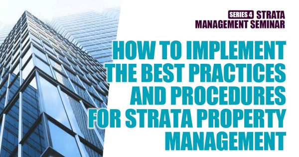Strata Management Seminar Series 4 (2021)